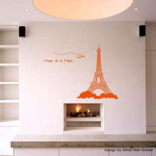 Eiffel Tower Wall sticker/door/window Art vinyl Decor mural