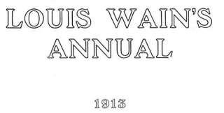 LOUIS WAIN CATS Calf Love. Antiquarian print. c1913