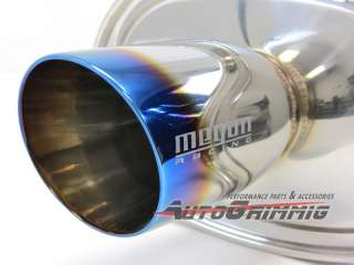 Racing M VO TURBO Exhaust Muffler VW Golf GTI Jetta Passat MK3 MK4 MK5