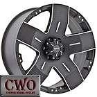22 Black Ballistic Hyjak Wheels Rims 8x180 8 Lug GMC Chevy 2500 2500HD