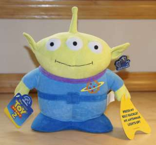 Disney Pixar Toy Story   3 Eyed Alien 10 Plush Toy w/ Tags   Antenna