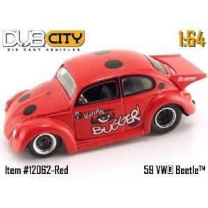 Jada Dub City VDubs Red Lady Bugger 1959 Volkswagen VW