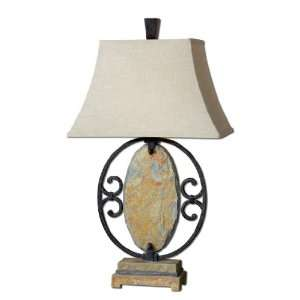 Uttermost 35 Inch Aracena Lamp Hand Crafted Natural Slate