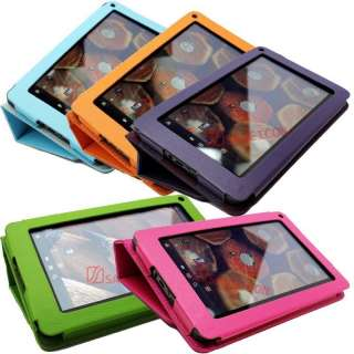 Kindle Fire PU Leather Folio Case Cover With Stand 5 Colors