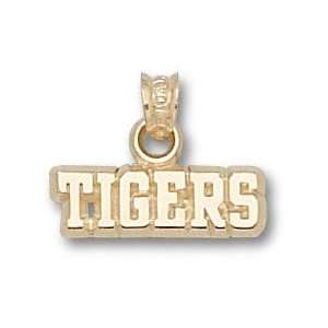 LSU Tigers Solid 10K Gold Classic LSU Football Pendant