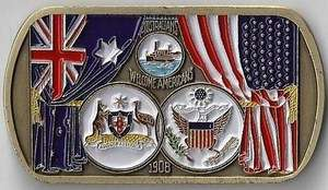 Australians & Americans Force Protection Challenge Coin