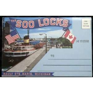 The Soo Locks Sault Ste. Marie, Michigan Souvenir Folder