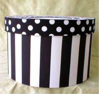 Fabric Covered Hat Box , XLg.Round, Paris Theme