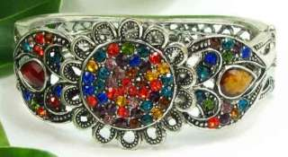 COLORFUL FLOWER Resin Rhinestone Crystal SPRING National Bangle