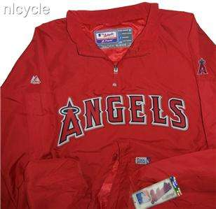 Anaheim ANGELS MLB AUTHENTIC MAJESTIC PULLOVER JACKET Cool Base 3XL