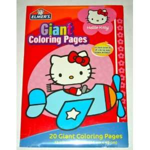 Hello Kitty Giant Coloring Pages Set Toys Games