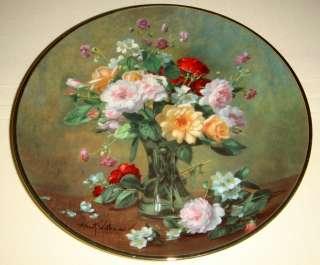 Albert Williams AUTUMN BOUQUET Pretty Vase Plate Bx+COA