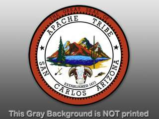 Round San Carlos Apache Tribe Sticker   decal seal AZ