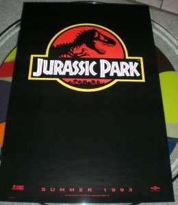 JURASSIC PARK Universal 1993 Original Advanced Rolled Teaser Single