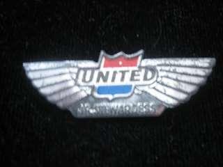 United Airlines Junior Stewardess Pin Steel ~ VERY RARE |