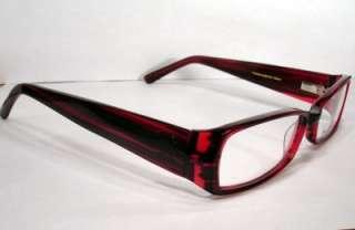 NICOLE MILLER Kashmir Red Women Eyeglass Frame new