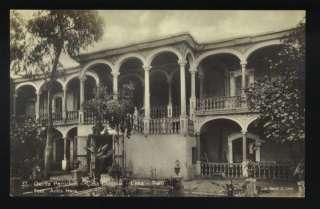 LIMA PERU QUINTA PERRICHOLI CASA COLONIAL 1910s RPPC