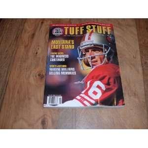 San Francisco 49ers. November 1992, Joe Montana San Francisco 49ers