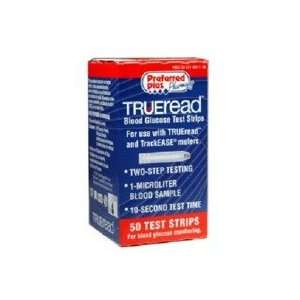 True Read Blood Glucose Test Strips 50 Health & Personal Care