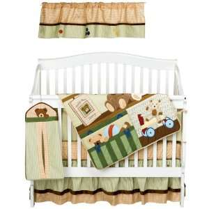 Lambs & Ivy 6 Piece Baby Crib Bedding Set in Teddy Bear Story Baby