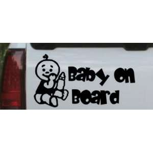 Baby On Board (Boy) Car Window Wall Laptop Decal Sticker    Black 11