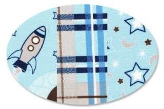 MOON STARS ROCKETS SPACE BLUE BABY BOY CRIB NURSERY SET