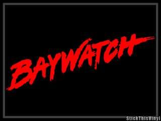 Baywatch Logo Pamela Anderson Decal Vinyl Sticker (2x)