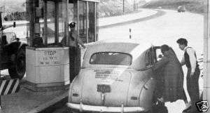 Irwin PA exit Pennsylvania Turnpike tollbooth 1947