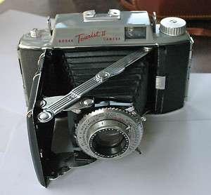 Kodak Tourist II Folding Camera with Syncro Rapid 800 Shutter and Case