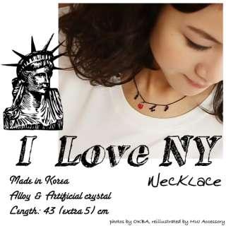 Love Heart NY Necklace Fashion Jewelry New York City