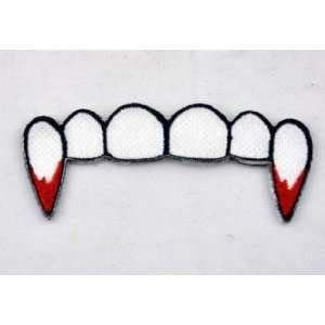 Vampire Fang Iron on Patch Gothic True Blood Diaries