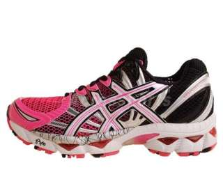 Asics Gel Nimbus 12 W Pink White Black 2011 Womens Pro Running Shoes