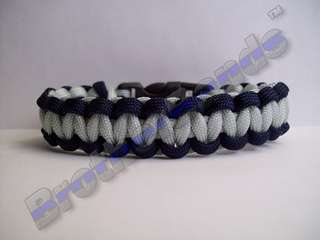 Police Thin Blue Line Paracord Survival Bracelet Any Sz