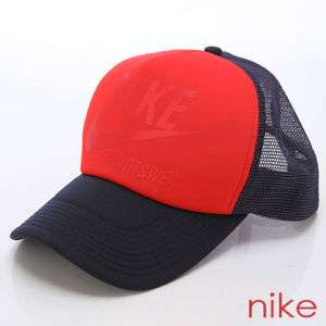 Nike Mesh Trucker Cap Baseball Hat (379393 455) *Red*