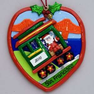 Personalized San Francisco Cable Car Ornament