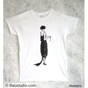 Vintage Flapper Girl   Pop Art Graphic T shirt (Womens