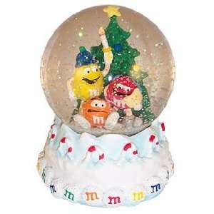 M&Ms Candy Christmas Water SNOW GLOBE New Gift