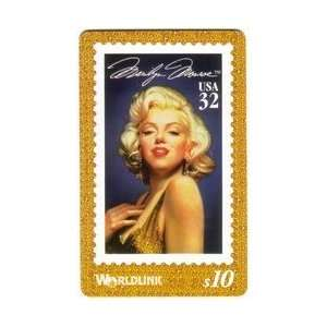 Marilyn Monroe Postage Stamp (32c Marilyn In Gold Dress) Everything