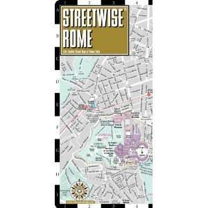City Center Street Map of Rome, Italy   Folding Pocket Size Travel