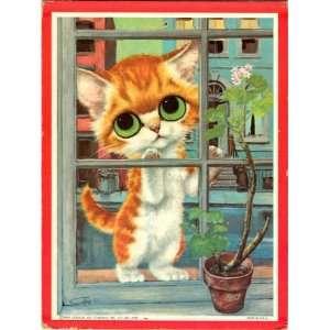 Gig 1965 Big Eyed Kitty Plaque