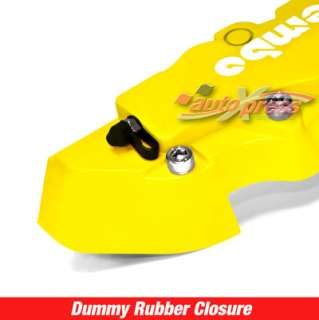 Brembo Style Brake Caliper Covers FRONT+REAR YELLOW 4PC