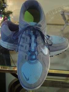 NIKE AIR Lunarlite Run Avant Gray Blue Womens Running Athletic Shoe sz