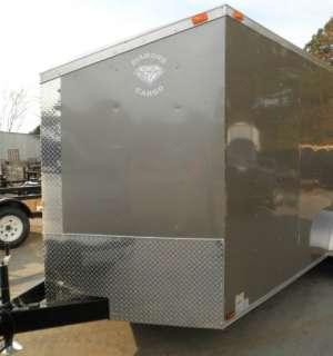 New 7x16 Enclosed Cargo Trailer Hauler Motorcycle Tandem V Nose