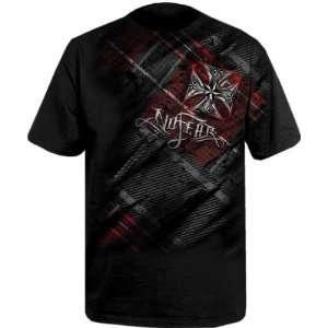 No Fear Iron Paid Black T Shirt (Size2XL)