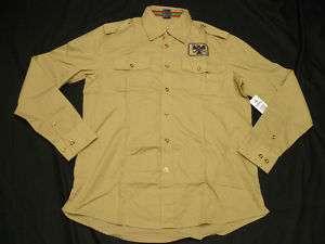 50 NWT Mens Avirex Button Down Shirt Military M H151