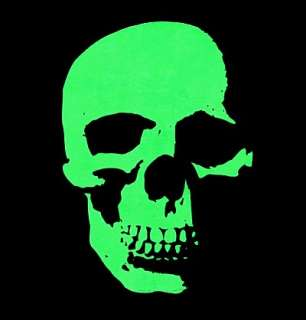 AWESOME NEON GREEN SKELETON SKULL GOTHIC T SHIRT XT39