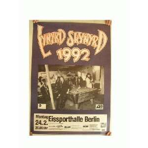 Lynyrd Skynyrd German Concert Tour Poster 1992