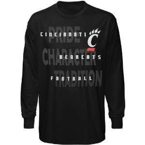 Cincinnati Bearcats Black Football Pride Long Sleeve T shirt