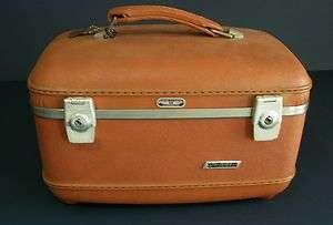 Vintage American Tourister Tri Taper Train Overnite Makeup Case Good