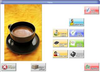 Restaurant pos system program software cash register